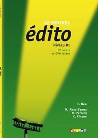 Elodie Heu et Myriam Abou-Samra - Le nouvel édito Niveau B1 - Méthode de français. 1 DVD + 1 CD audio