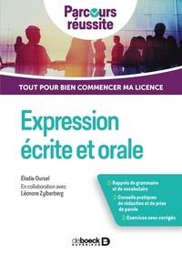 Elodie Oursel - Expression écrite et orale - Tout pour bien commencer ma licence.