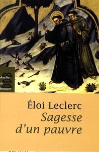 Eloi Leclerc - Sagesse d'un pauvre.