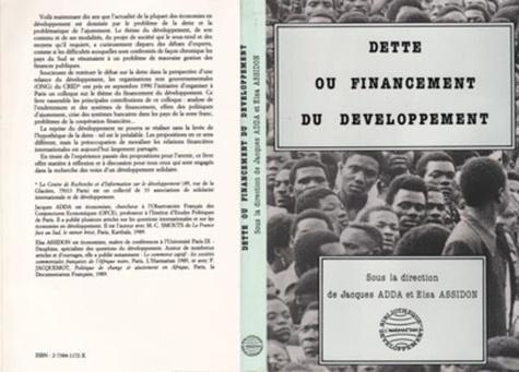 Elsa Assidon - Dette ou financement du developpement.