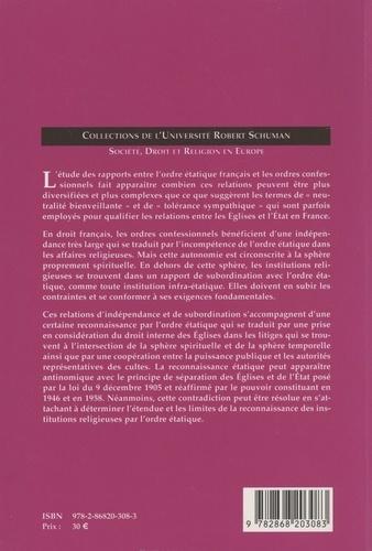 Etat et institutions religieuses. Contribution à l'étude des relations entre ordres juridiques
