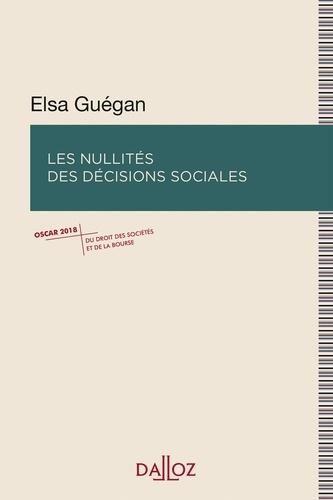Elsa Guégan - Les nullités des décisions sociales.