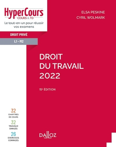 Droit du travail 2022 - 15e ed.