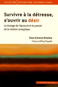 Elsa Schmid-Kitsikis - Survivre à la détresse, s'ouvrir au désir - Le tissage de l'éprouvé et du pensé de la relation analytique.