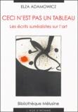 Elza Adamowicz - Ceci n'est pas un tableau - Les écrits surréalistes sur l'art.