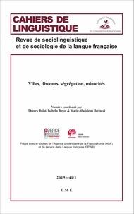 EME (Editions) - Villes, discours, ségrégation, minorités.