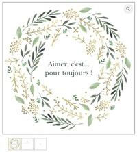 Emece Editeur - Carte Couronne Végétale.
