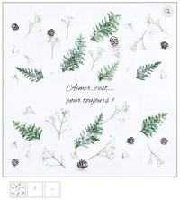 Emece Editeur - Carte Roses & Fougères.