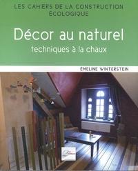 Emeline Winterstein - Décor et naturel - Techniques à la chaux.