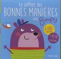 Emi Ordas et Maud Brougère - Le coffret des bonnes manières avec Bumpy - Avec 4 livres d'histoire : Saluer ; S'excuser ; Demander ; Remercier, 1 affiche et des autocollants.