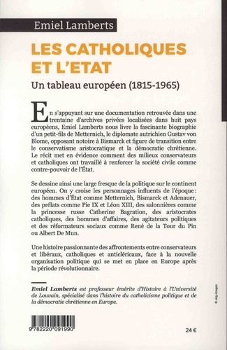 Les catholiques face à l'Etat (1815-1965). Un tableau européen