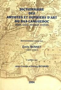 Emile Bonnet - Dictionnaire des artistes et ouvriers d'art du Bas-Languedoc (Aude, Gard, Hérault, Lozère).