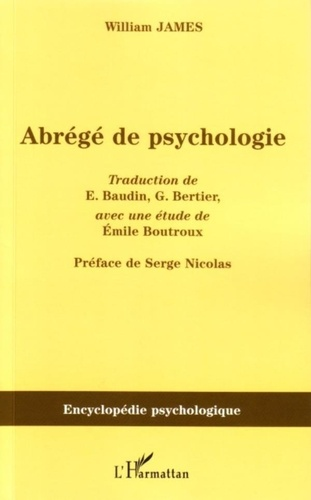 Emile Boutroux - Abrégé de psychologie.