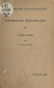 Emile Dard - Albert Sorel - 18 Décembre 1942.