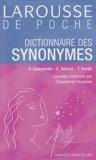 Emile Genouvrier et Claude Désirat - Dictionnaire des synonymes.