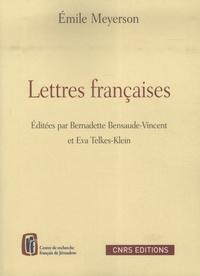 Emile Meyerson - Lettres françaises.
