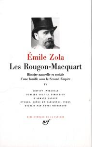 Emile Zola - Les Rougon-Macquart Tome 4 : Histoire natuelle et sociale d'une famille sous le Second Empire - L'Oeuvre ; La Terre ; Le Rêve ; La Bête humaine.