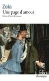 Emile Zola - Une Page d'amour.