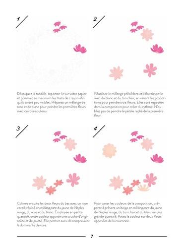 Fleurs à la gouache. Avec des calques à taille réelle