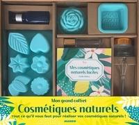 Emilie Hébert - Mon grand coffret Cosmétiques naturels - Tout ce qu'il vous faut pour les réaliser vous-même ! Avec des moules pour fabriquer des cosmétiques, 1 pot de crème, 1 flacon pipette, 1 flacon roll-on, 1 minifouet.