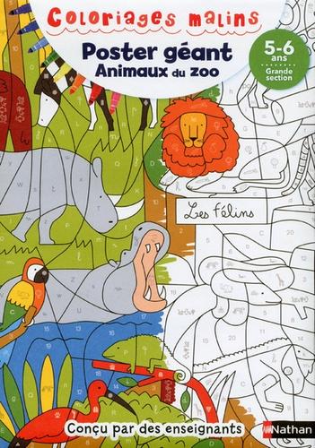 Poster Geant Animaux Du Zoo Grande Section Album