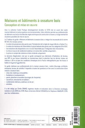Maisons et bâtiments à ossature bois. Conception et mise en oeuvre - En application du NF DTU 31.2 et de l'Eurocode 5 2e édition