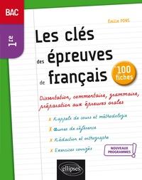 Electronics e books téléchargement gratuit Les clés des épreuves de français en 100 fiches