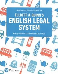 Histoiresdenlire.be Elliott and Quinn's English Legal System Image