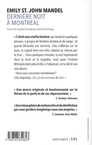 Dernière nuit à Montréal de Emily St John Mandel - Poche - Livre - Decitre