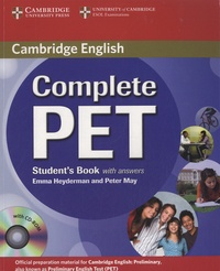 Emma Heyderman et Peter May - Complete PET - Student's Book with Answers. 1 Cédérom