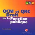 Emmanuel Aubin - QCM et QRC Droit de la Fonction publique.
