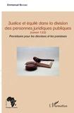 Emmanuel Bationo - Justice et équité dans la division des personnes juridiques publiques - canon 122 - Procédures pour les diocèses et les paroisses.