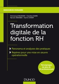 Emmanuel Baudoin et Caroline Diard - Transformation digitale de la fonction RH.