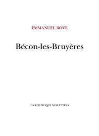 Emmanuel Bove - Bécon-les-Bruyères.
