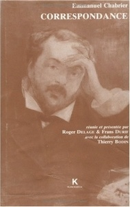 Emmanuel Chabrier - Correspondance.