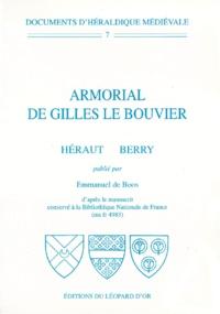 Emmanuel de Boos - Armorial de Gilles Le Bouvier - Héraut Berry.