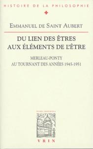 Era-circus.be Du lien des êtres aux éléments de l'être - Merleau-Ponty au tournant des années 1945-1951 Image