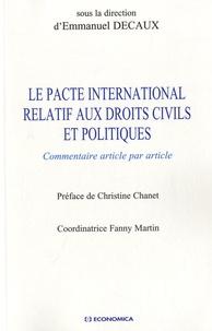 Ucareoutplacement.be Le Pacte international relatif aux droits civils et politiques - Commentaire article par article Image