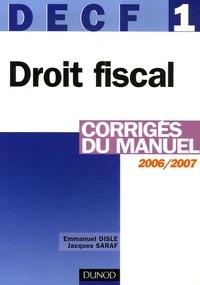 DECF 1 Droit fiscal - Corrigés du manuel.pdf