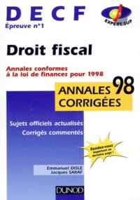DECF épreuve n° 1 Droit fiscal. Annales conformes à la loi de finances pour 1998.pdf