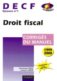 DECF épreuve n° 1 Droit fiscal. Corrigé du manuel, édition 1999-2000.pdf