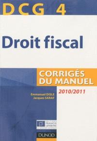 Deedr.fr Droit fiscal DCG 4 - Corrigés du manuel Image