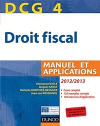 Droit fiscal DCG 4- Manuel et Applications - Emmanuel Disle pdf epub