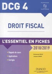 Emmanuel Disle et Jacques Saraf - Droit fiscal DCG 4 - L'essentiel en fiches.