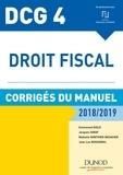 Emmanuel Disle et Jacques Saraf - Droit fiscal DCG 4 - Corrigés du manuel.