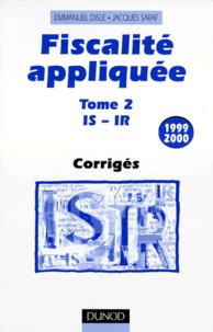 Goodtastepolice.fr FISCALITE APPLIQUEE. Tome 2, Corrigés, édition 1999/2000 Image