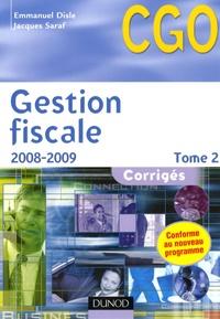 Emmanuel Disle et Jacques Saraf - Gestion fiscale Processus 3 - Corrigés Tome 2.