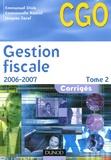 Emmanuel Disle et Emmanuelle Rascol - Gestion fiscale - Tome 2, Corrigés.