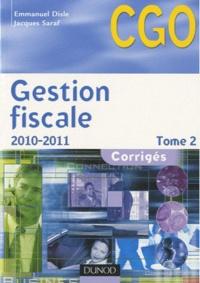 Emmanuel Disle et Jacques Saraf - Gestion fiscale - Tome 2, Corrigés.