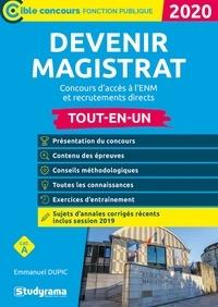 Emmanuel Dupic - Devenir magistrat - Concours d'accès à l'ENM et recrutements directs.